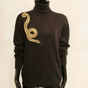🆕⭐ Ralph Lauren black silk cashmere turtleneck ⭐